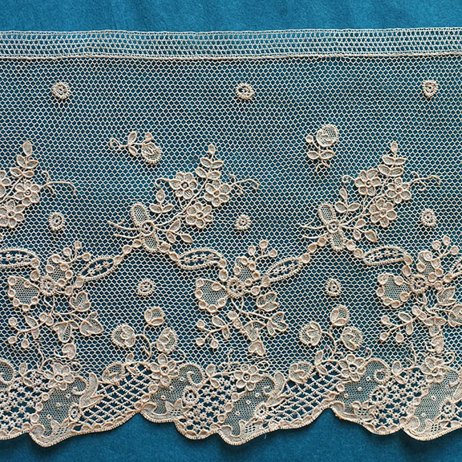18th Century Alencon Needle Lace Border
