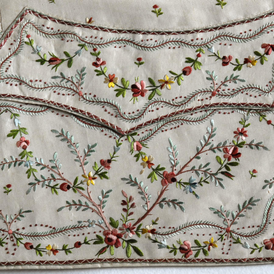 18th Century Man's Silk Embroidered Waistcoat, circa 1780