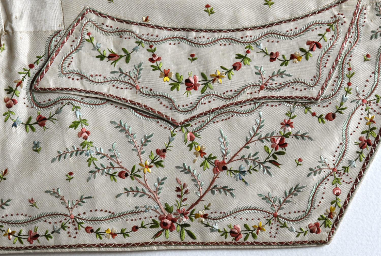 18th Century Man's Silk Embroidered Waistcoat, circa 1780