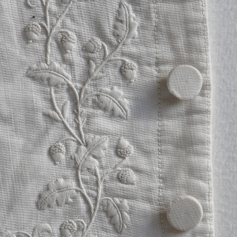 Man's White Embroidered Wedding Waistcoat, circa 1820