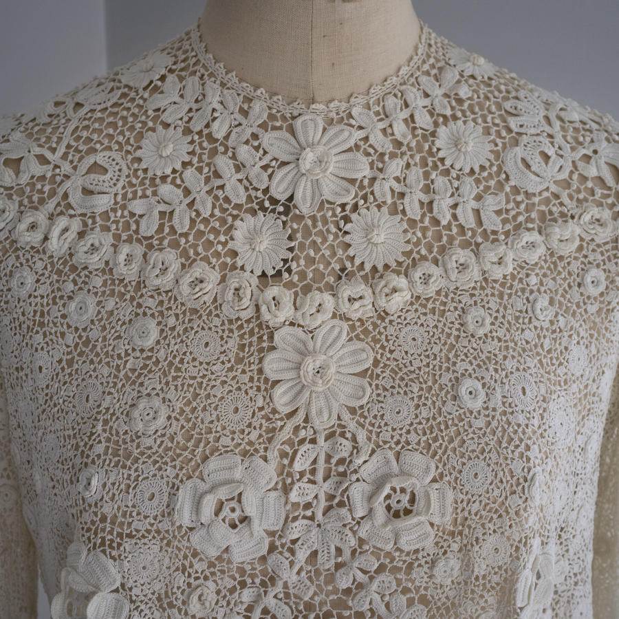 Irish Crochet Lace Blouse circa 1910