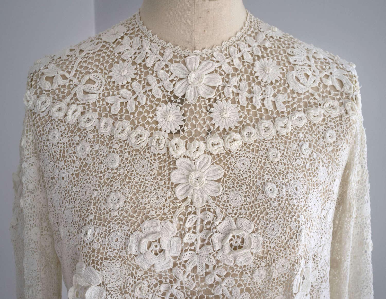 Irish Crochet Lace Blouse circa 1910