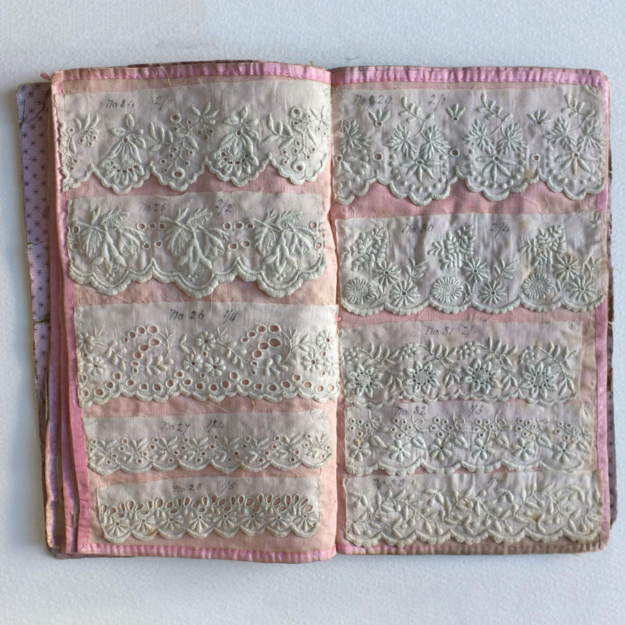 19th Century Irish Hand Embroidery Pattern Book - E.C.Brooke, Belfast
