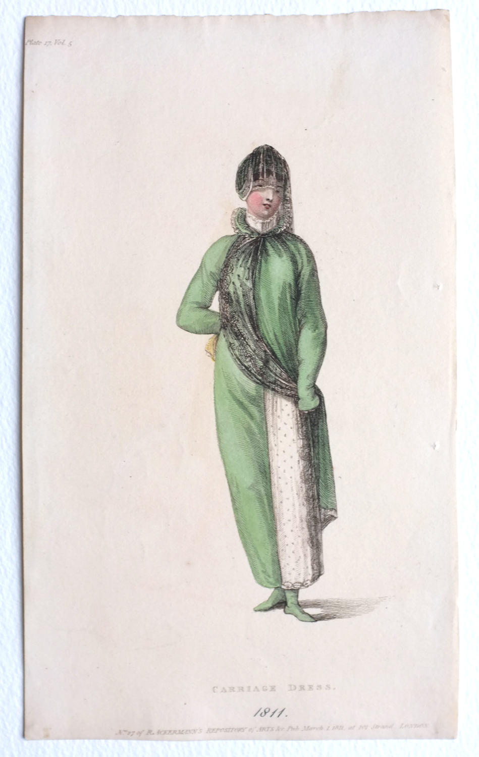 Ackermann's Hand Coloured Engraving - 1811