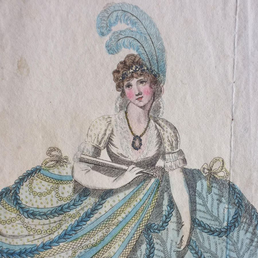 Dress of Princess Augusta 1799 - Richard Philips Etching