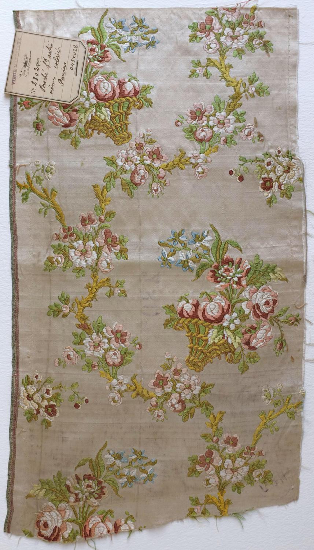 Fragment of 18th Century Lampas Silk Satin