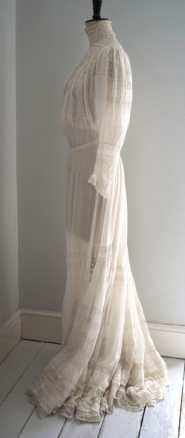 Edwardian Muslin and Lace Afternoon Dress