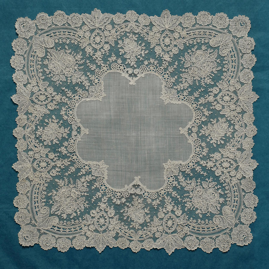Brussels Point de Gaze Lace Handkerchief