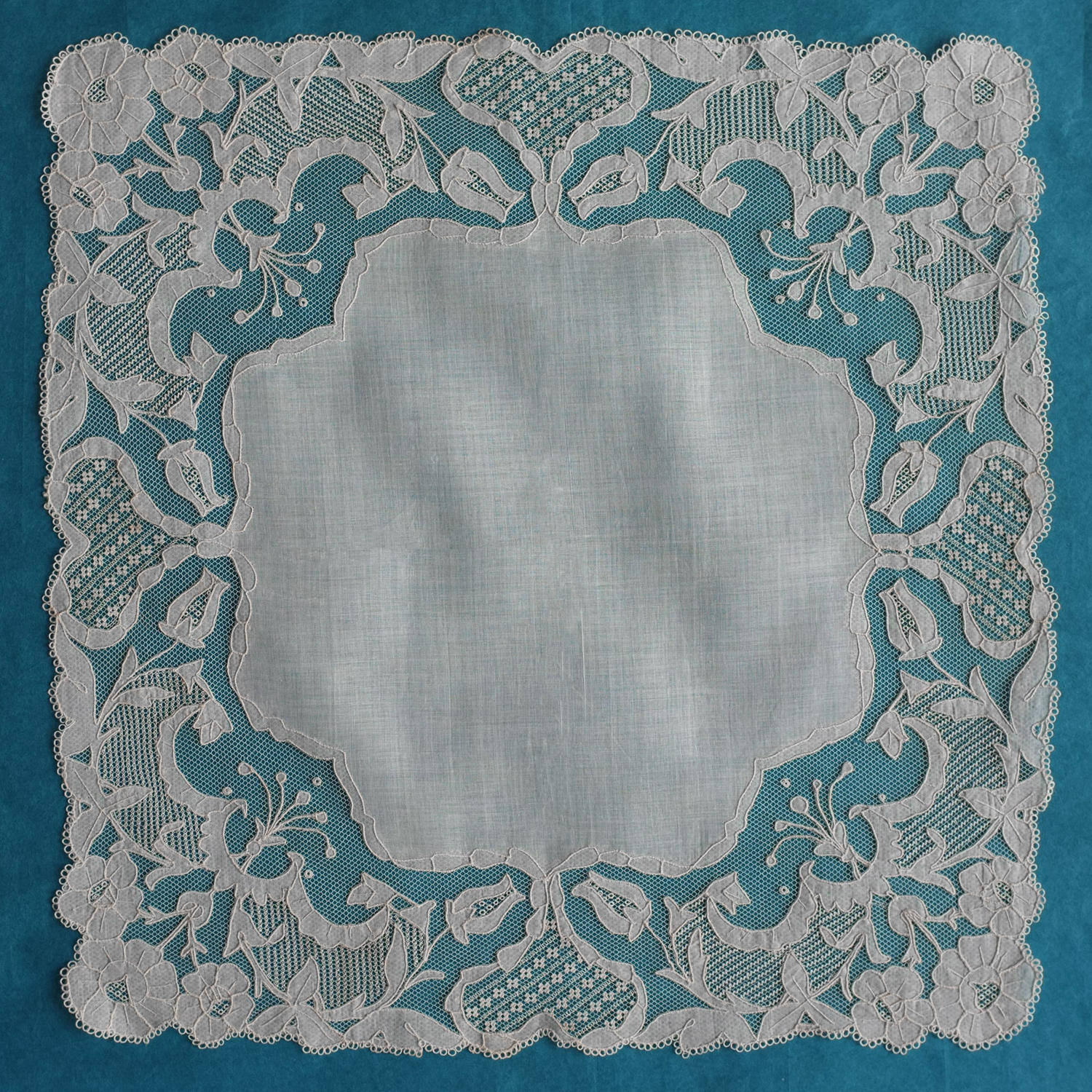Carrickmacross Art Nouveau Lace Handkerchief