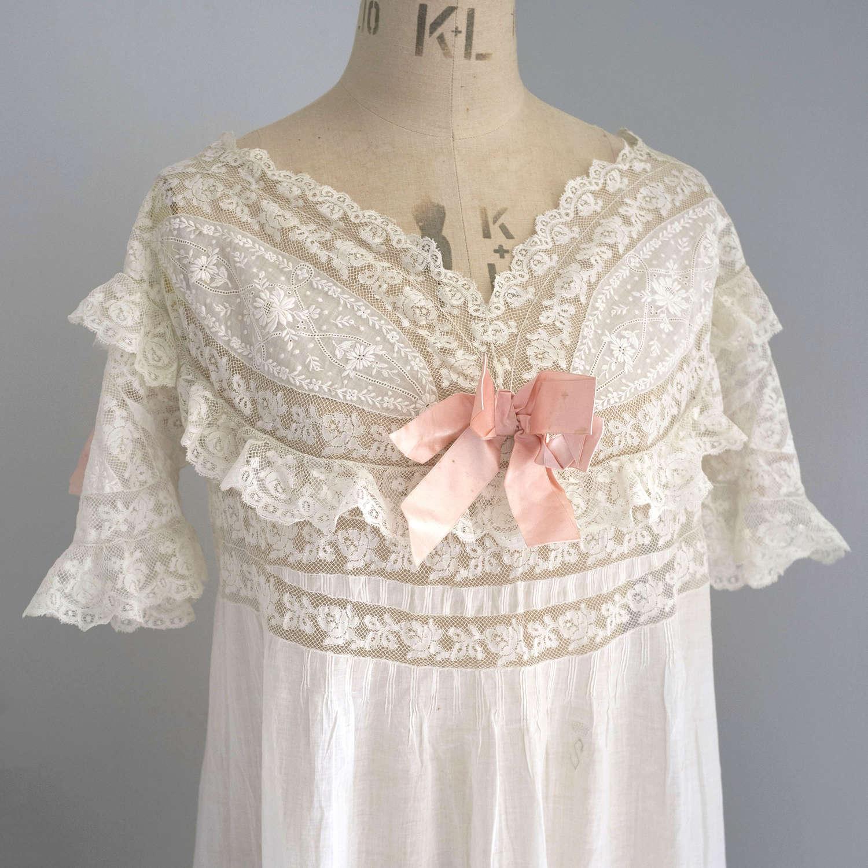 Belle Epoque Nightdress with Monogram and Coronet