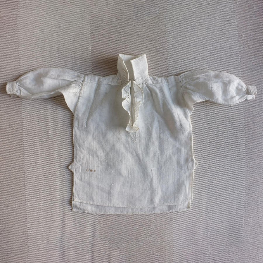Plain Sewing Sample - Miniature Gentleman's Linen Shirt circa 1838