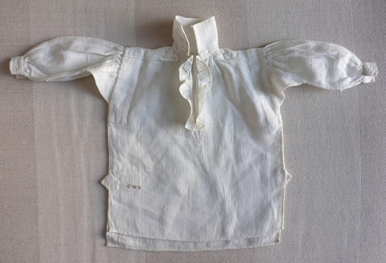 Plain Sewing Sample - Miniature Gentleman's Linen Shirt circa 1838