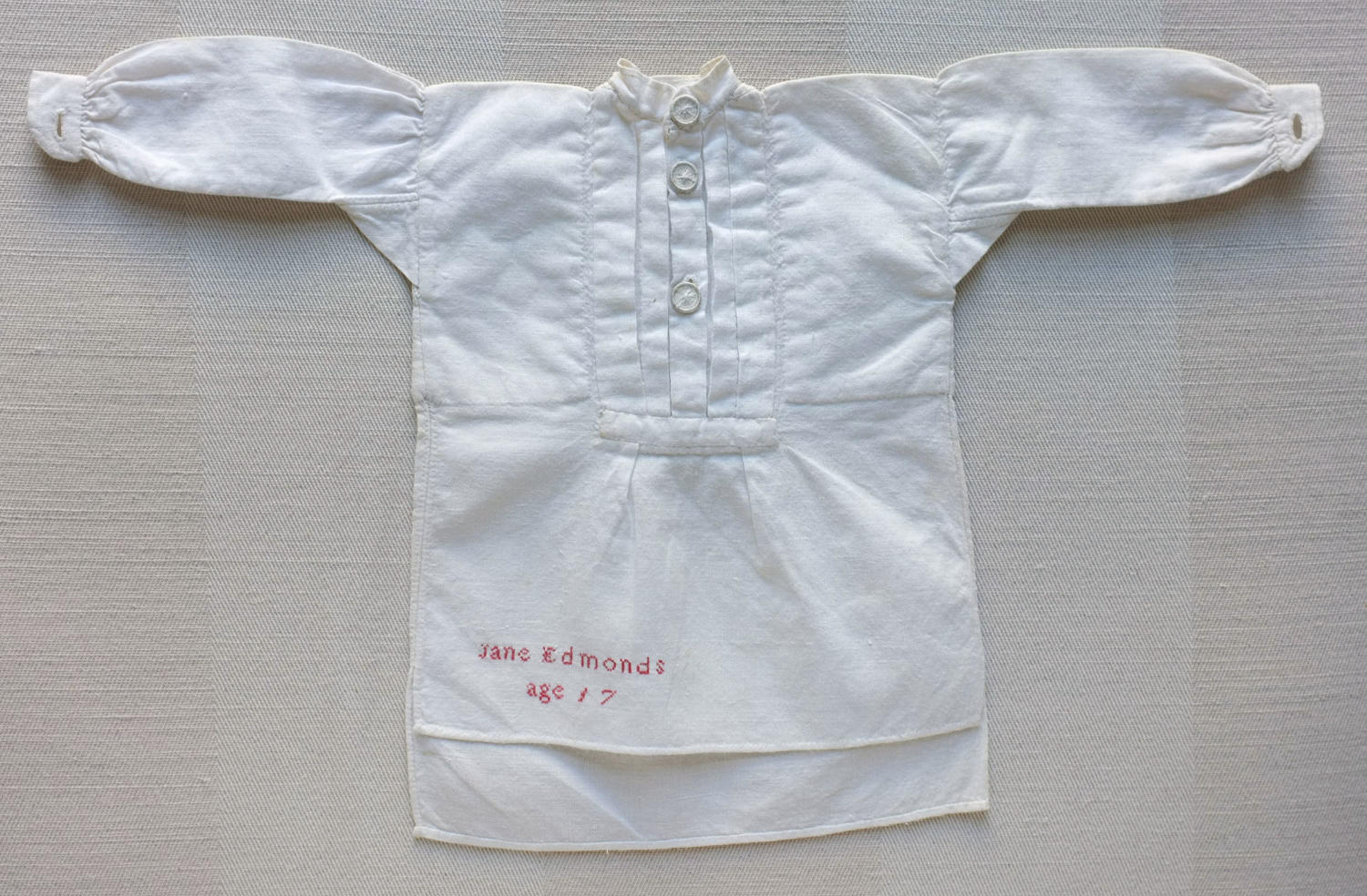 Plain Sewing Sample - Miniature Cotton Gentleman's Shirt
