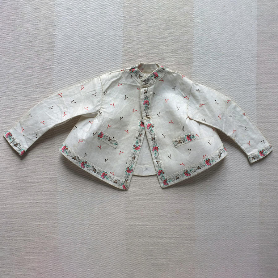 Plain Sewing Sample - Printed Glazed Cotton Jacket with Pin Print