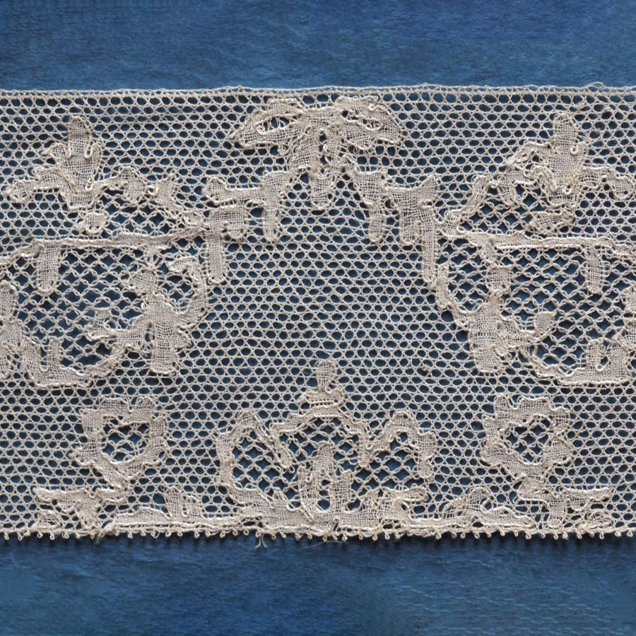 19th Century Point de Paris Bobbin Lace with Provenance