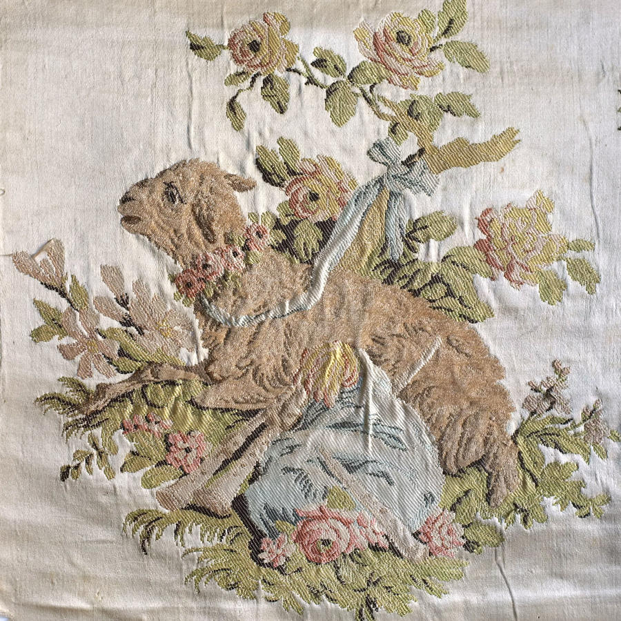 18th C Lyon Silk Fragment - Philippe de Lasalle, 1780