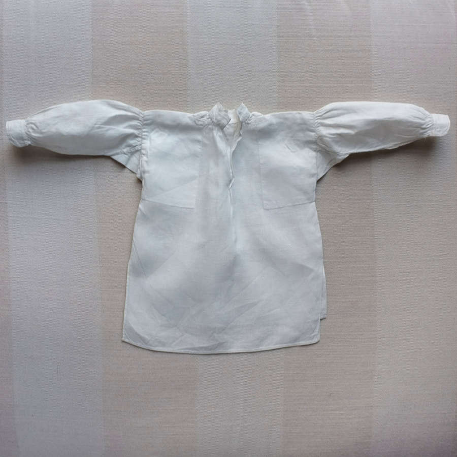 Victorian Plain Sewing Sample - Miniature Gentleman's Linen Shirt