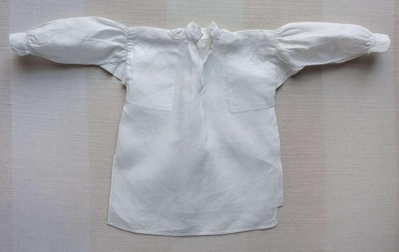 Victorian Plain Sewing Sample - Miniature Gentleman's Linen Shirt