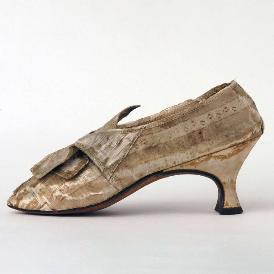 Striped Silk Shoes Circa 1780