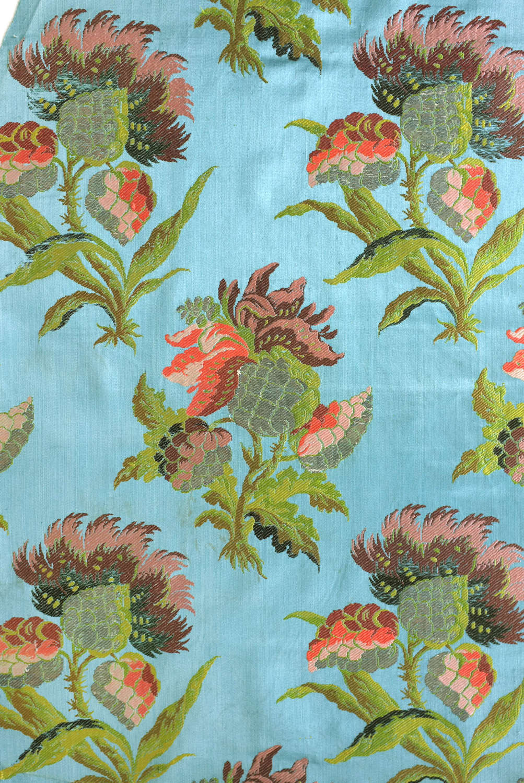Antique Early 18th Century Lampas Silk, circa 1730