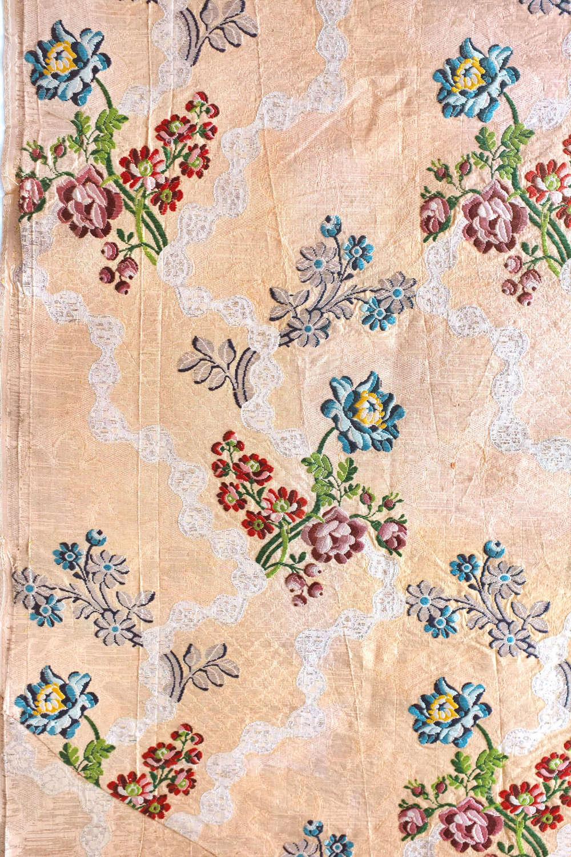 Antique 18th Century Silver & Gold Woven Silk, circa 1760-70