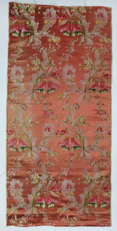 Antique 18th Century Brocaded Silk Panel, circa 1760 - 1770