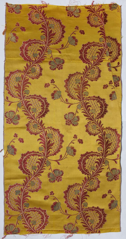 Antique 18th Century Woven Silk Dress Panel, circa 1750 - 1760