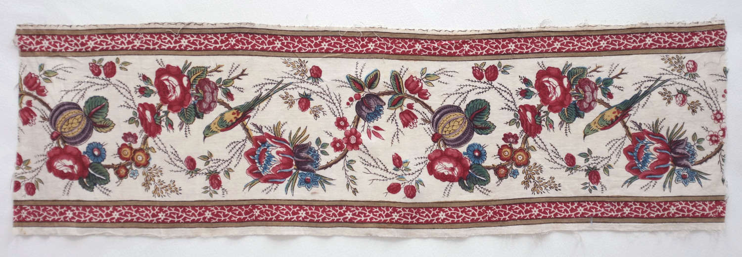 Antique French Late 18th Century Printed Border