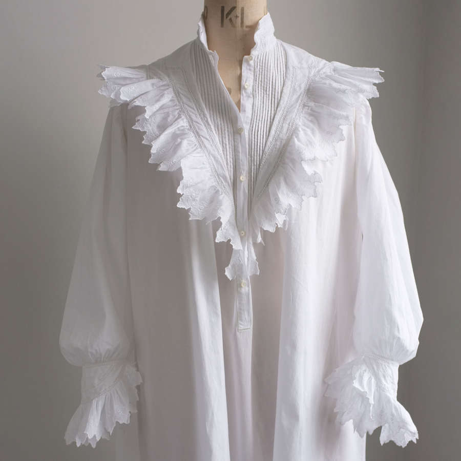 Antique 19th Century French Cotton Nightdress