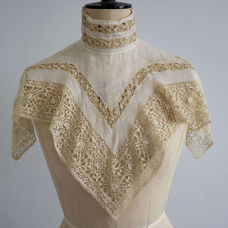 Antique Edwardian Collar - 17th Century Reticella Lace