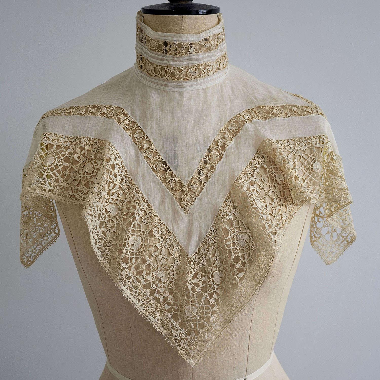 Antique Edwardian Collar - 17th Century Reticella Lace