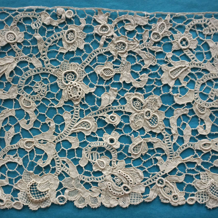 Antique 19th Century Venetian Style Needle Lace