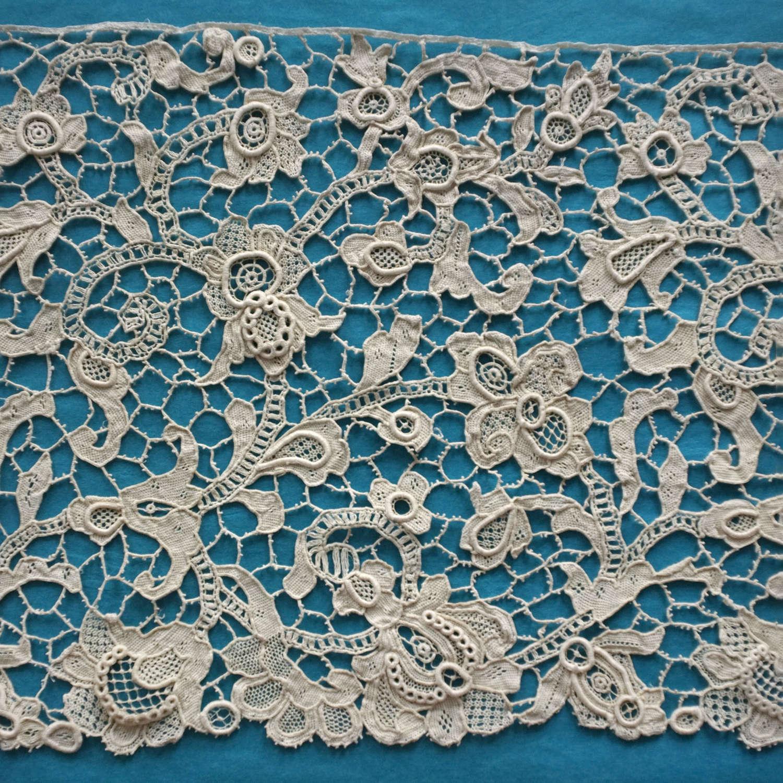 Antique 19th Century Venetian Style Needle Lace