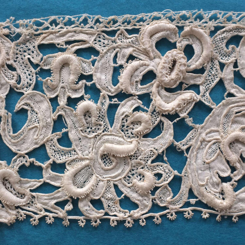 Antique Late 17th Century Venetian Needle Lace Border
