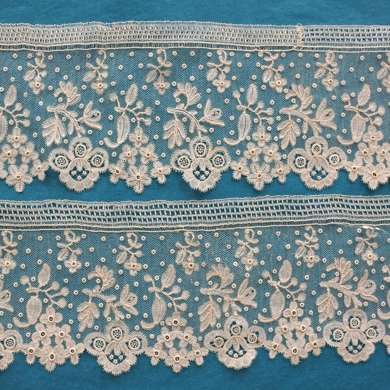 Antique Point d'Angleterre Lace Border