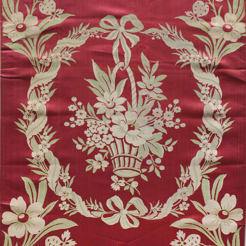 Antique 19th Century Lyon Silk Sample Length