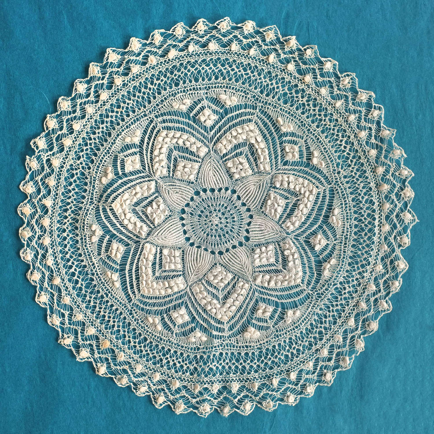 Antique Early 19th Century Knitted Mat - Margaret Simeon Collection