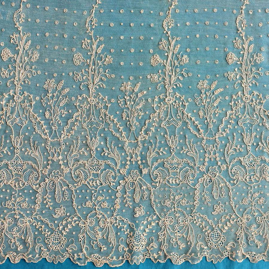 Antique Alençon Lace Panels, late 18th / early 19th Century